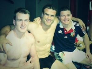 Stuart Hogg, Jamie Robert & BOD post match