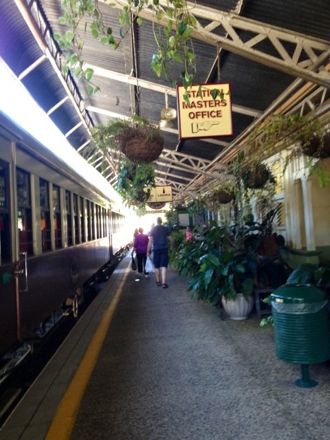 The train station at Kuranda - very quaint!