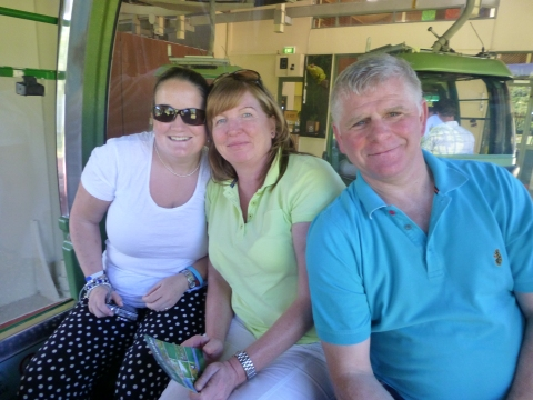 Me with Sandra & Chris in the pod
