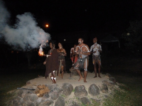 The start of the Aboriginal Evening
