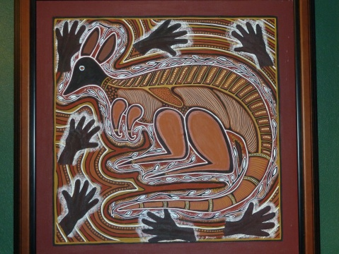 Some of the Aboriginal art around the restaurant area