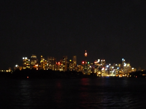 The lights of Sydney by night