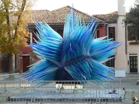 Impressive glass sculpture on the island of Murano